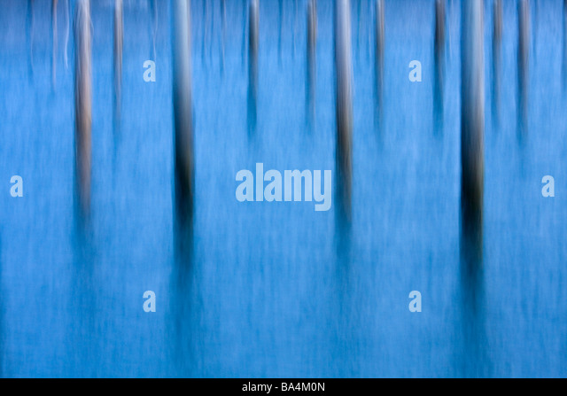 Abstract image of piers in water - Stock-Bilder