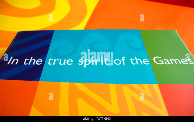 Olympic Games slogan - Stock Image
