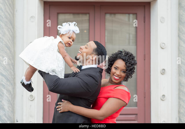 Black Family, Engagement Pictures, Family Pictures, Well Dressed Family, Birthday Family Pictures, Happy Family, - Stock Image