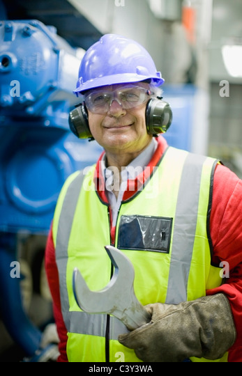 Portrait of an industrial worker - Stock Image