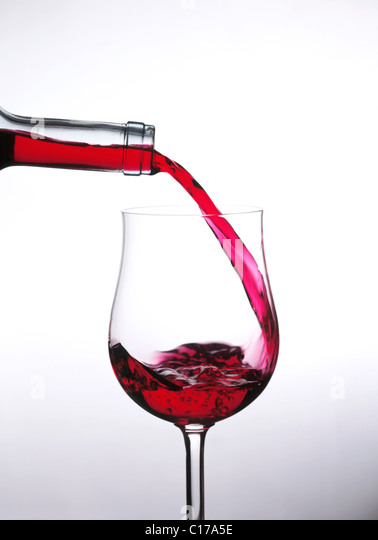 Still: Pour wine into glass - Stock-Bilder