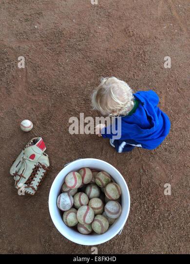 Ball Bucket Baby - Stock Image
