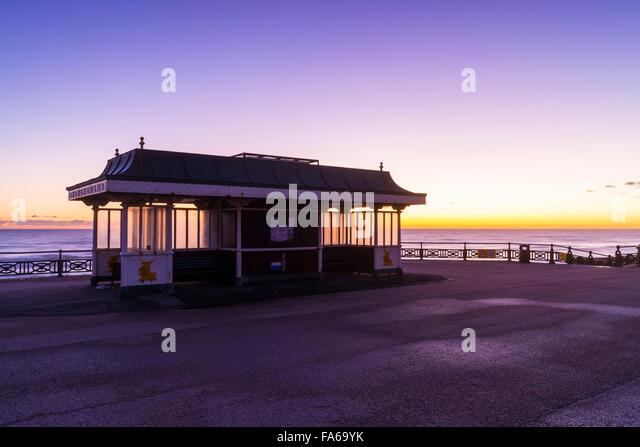 Sunset Shelter Hove - Stock Image