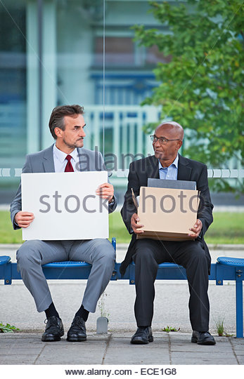 Man job loss Search jobless crash crisis problem - Stock Image