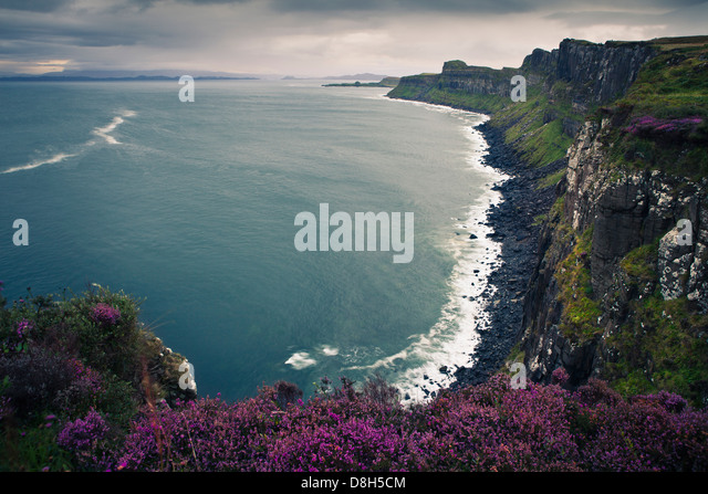 Kilt Rock View Point, Isle of Skye, Scotland, United Kingdom - Stock Image