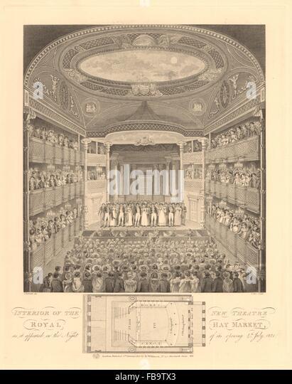 theatre royal haymarket interior seating plan opening night 1821 1834 fb9tx3