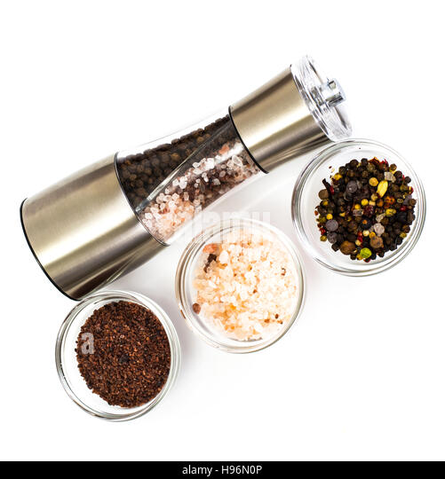 Black Silver Pepper And Salt Stock Photos Black Silver