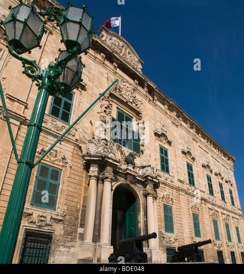 Auberge de Castelle Prime Ministers Office in Valletta the capital of Malta - Stock Image