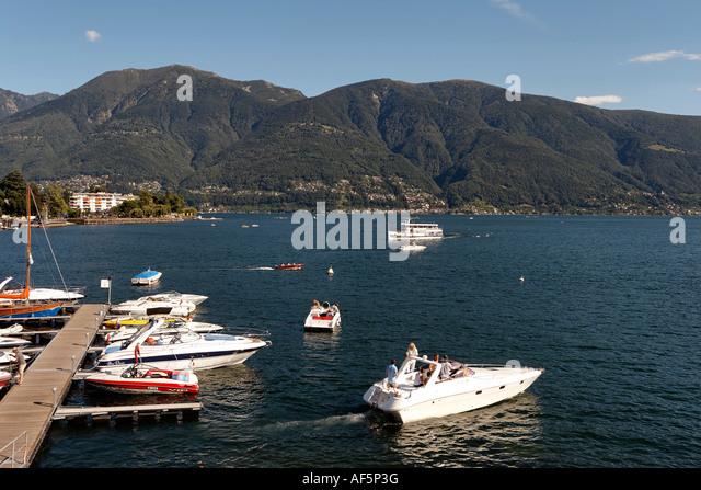 Switzerland Ticino Ascona Lago Maggiore - Stock Image