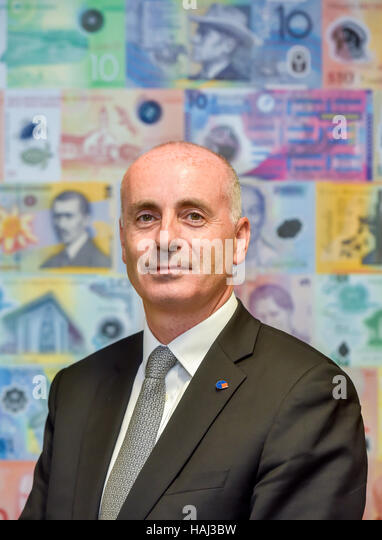 Mark Robertshaw CEO Innovia Group who produce Guardian Clarity C polymer substrate for plastic bank notes - Stock Image
