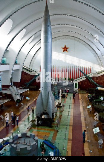 Beijing, China, HIgh Angle View, inside Museums, 'The Military Museum of CHinese People's Revolution' - Stock Image