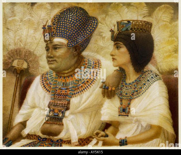 Amenhotep Iii And Tiy - Stock Image