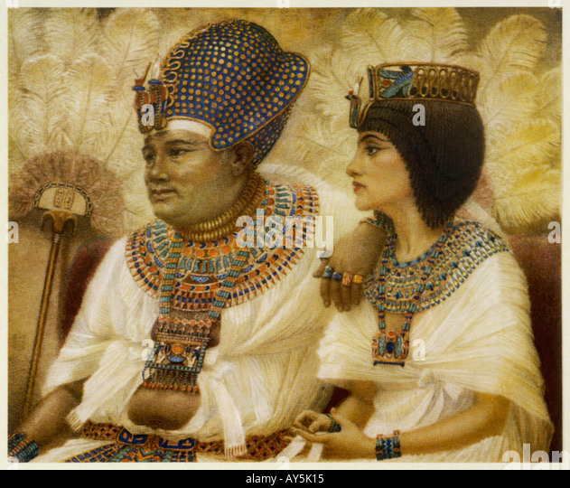 Amenhotep Iii And Tiy - Stock-Bilder