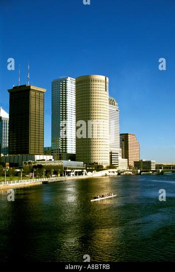 Florida Tampa City skyline - Stock Image