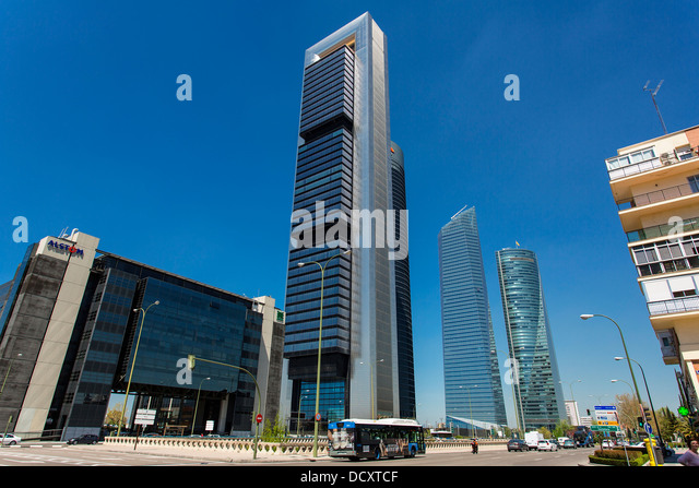 Madrid, Financial District - Stock Image