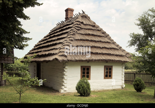 Fine shot of old rustic house - Stock Image