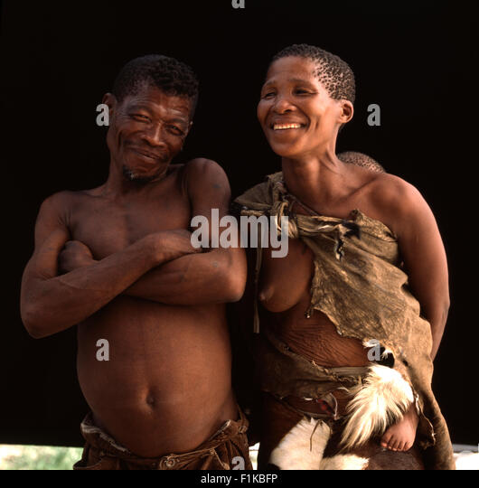 Bushman Couple, Botswana - Stock Image