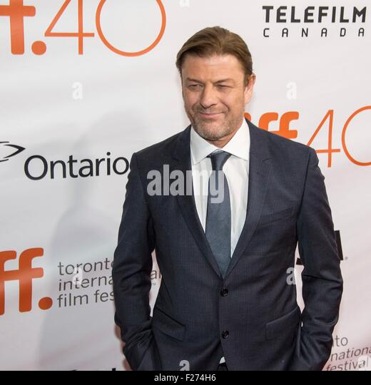 Actor Sean Bean attends the world premiere for The Martian at the Toronto International Film Festival at the Roy - Stock Image