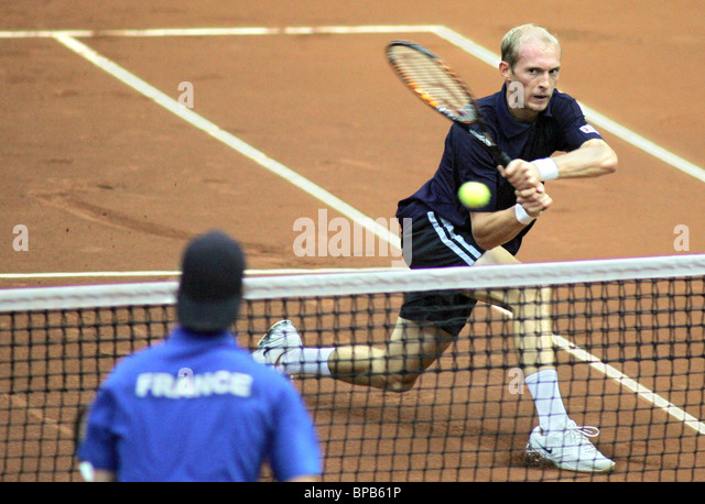 Russia reaches Davis Cup semifinals - Stock Image