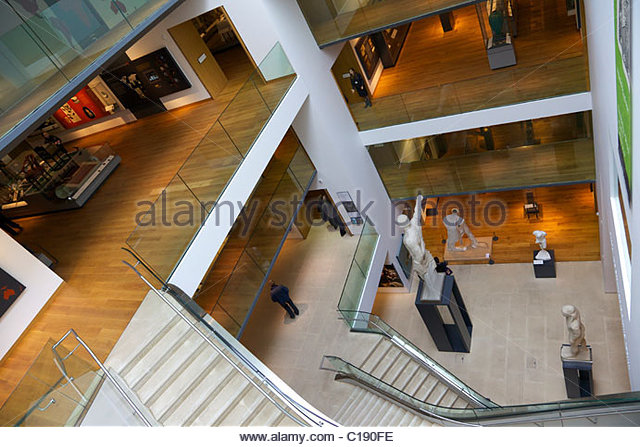 Interior of Ashmolean Museum of Art and Archaeology, University of Oxford, Oxfordshire, England, UK, United Kingdom, - Stock Image