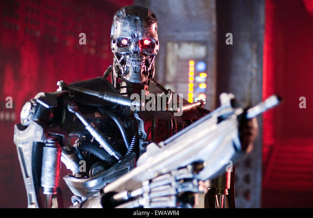 Terminator Salvation (also known as Terminator 4: Salvation) is a 2009 American science fiction action film directed - Stock Image