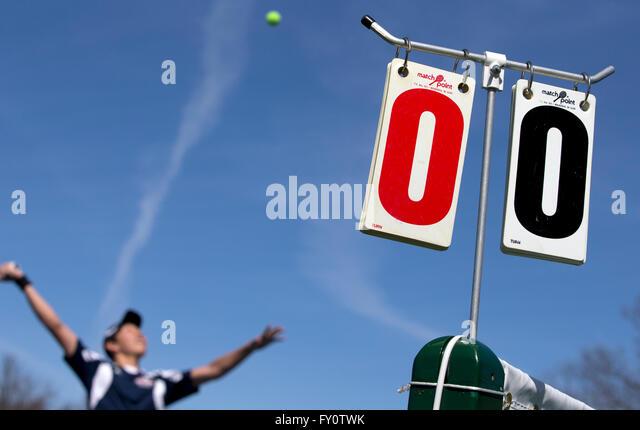 high school tennis - Stock Image