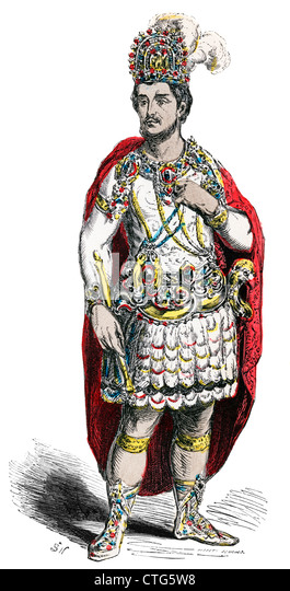 MONTEZUMA LAST AZTEC RULER OF MEXICO IMPRISONED BY SPANISH CONQUISTADOR CORTES IN 1519 1500s NATIVE AMERICAN - Stock Image