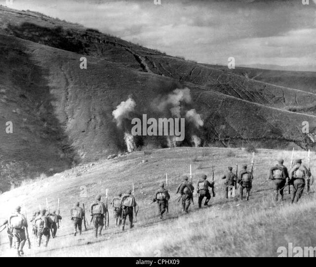Bulgarian attack in Macedonia, 1917 - Stock Image