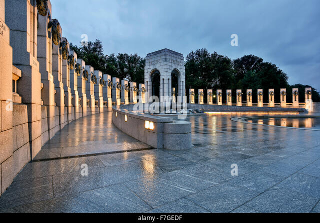 World War II Memorial, Washington, District of Columbia USA - Stock Image