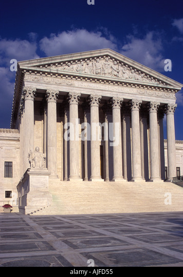 Supreme Court building in Washington D.C. - Stock Image
