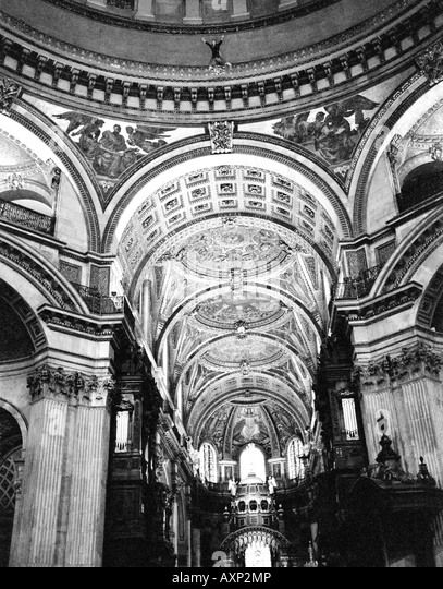 Russell Powell BASE 230 BASE Jumping from the Whispering Gallery inside St Pauls Cathedral London. Picture copyright - Stock Image