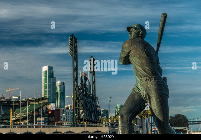 Statue of Baseball Player - Stock Image