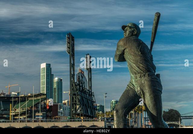 Statue of Baseball Player - Stock Image