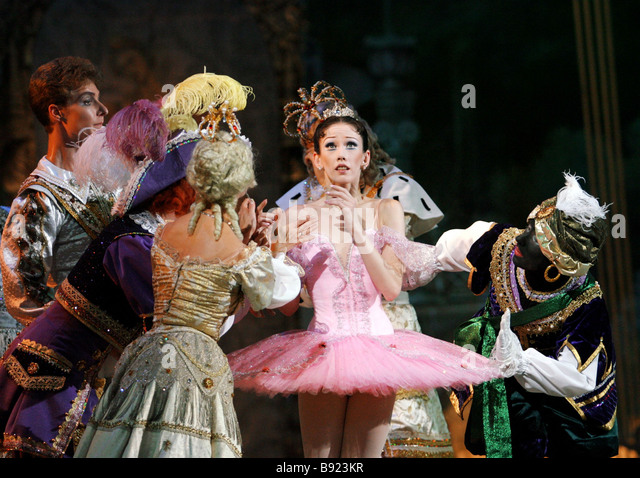 Premiere of new version of ballet The Sleeping Beauty by Peter Tchaikovsky Produced by State Academic Classic Ballet - Stock Image
