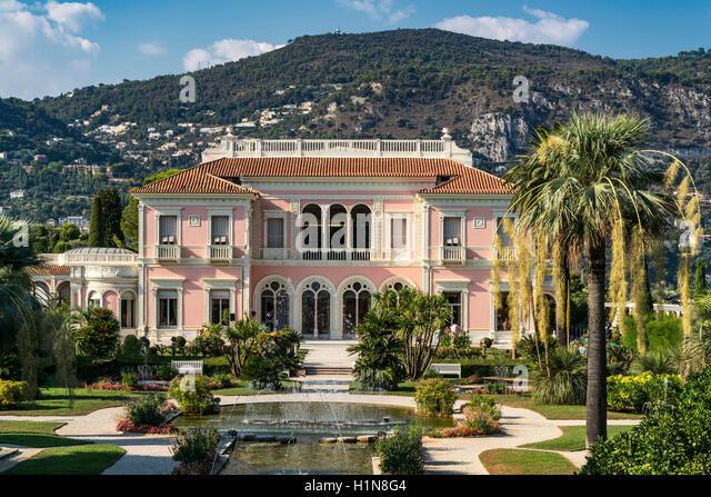 Villa Ephrussi de Rothschild, St. Jean Cap Ferrat, France - Stock Image