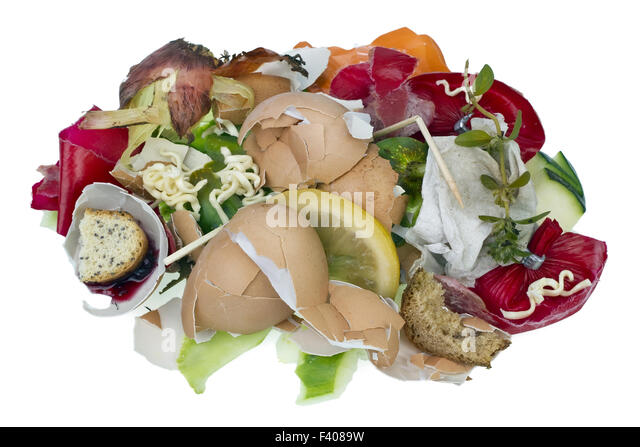 Food waste isolated concept - Stock Image