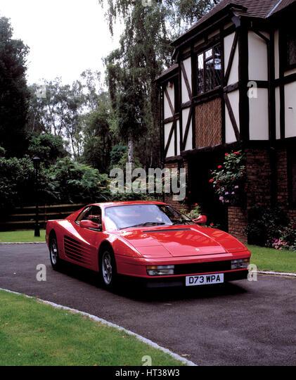 1987 Ferrari Testarossa. Artist: Unknown. - Stock Image