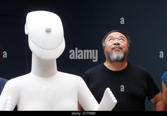Athens, Greece. 19th May, 2016. Chinese artist and activist AI WEIWEI gives a press conference during his exchibition - Stock Image