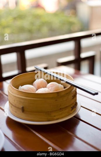 Dumplings, Shanghai, China - Stock Image