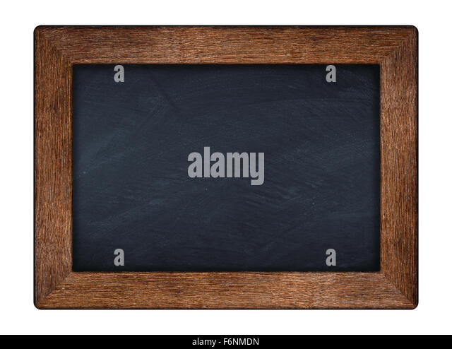little blackboard with wooden old oak frame - Stock Image