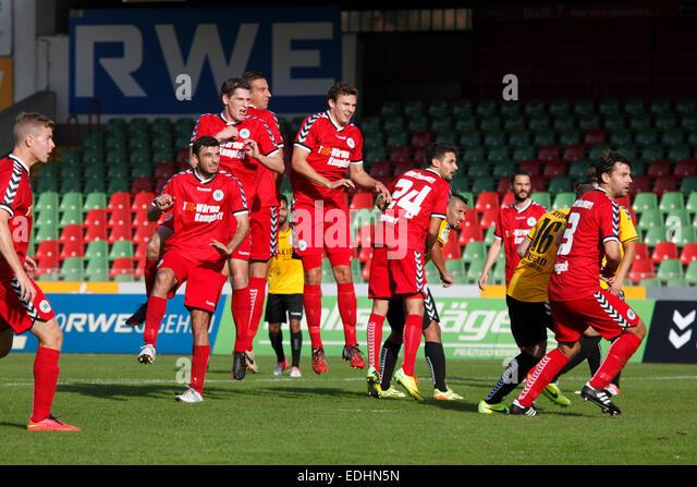 sports, football, Regional League West, 2014/2015, Rot Weiss Oberhausen versus KFC Uerdingen 05 1:2, Stadium Niederrhein - Stock Image