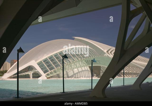 L'Hemisferic IMAX style cinema in the Ciudad de las Artes y de Ciences,  Valencia - Stock Image