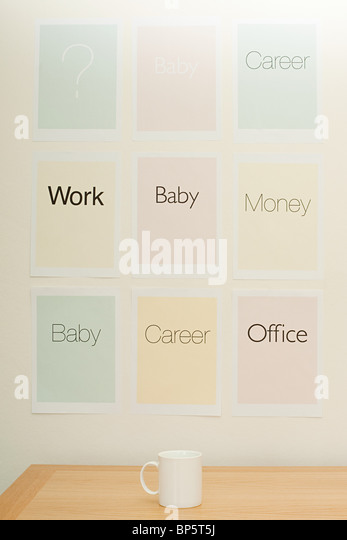 Work and life choices - Stock Image