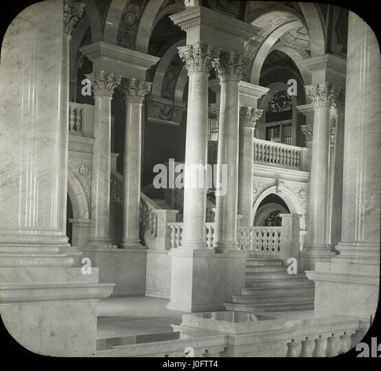 View of staircase at Library of Congress - Stock-Bilder
