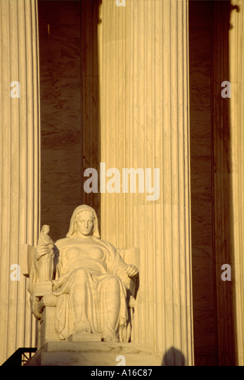 U.S. Supreme Court in Washington D.C. - Stock Image