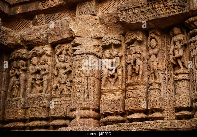 Carved konark statue stock photos