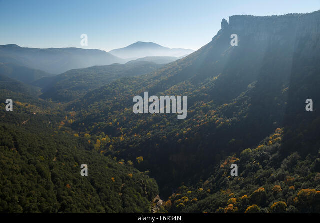 Salt Sallent waterfall. Rupit. Osona Region. Barcelona. Cataluña. Spain. Europe - Stock Image