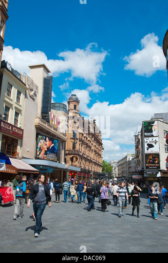 Leicester Square central London England Britain UK Europe - Stock Image
