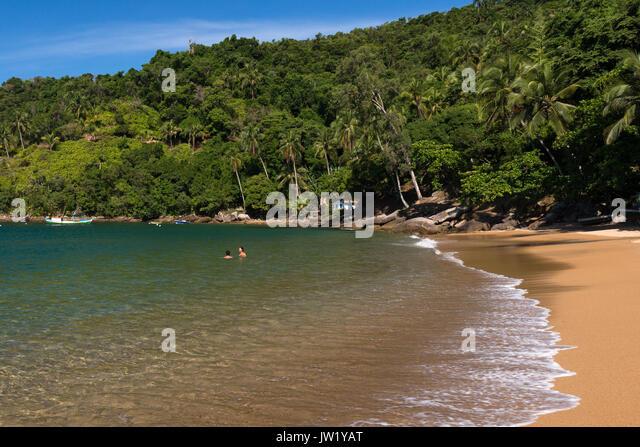 Beach in Ilhabela, Brazil - Stock Image