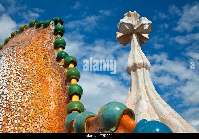 Barcelona, Casa Battlo - Stock-Bilder